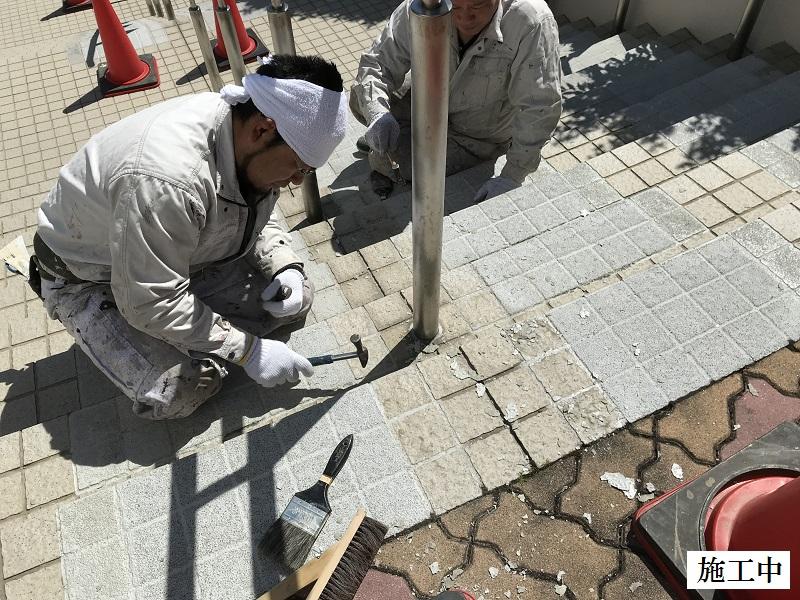 神戸市 正面玄関階段ノンスリップ塗装修繕工事イメージ03