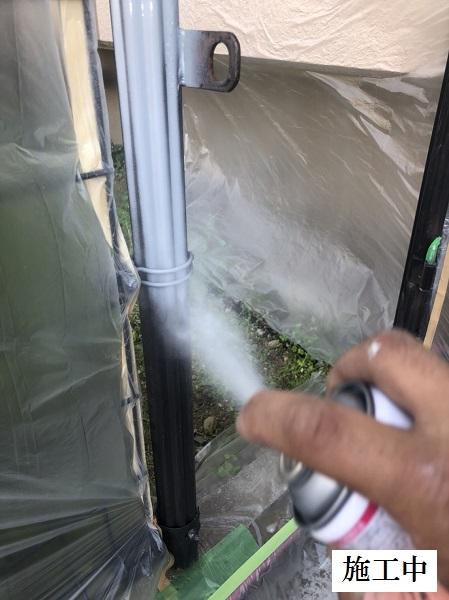 西宮市 マンション 駐輪場奥扉・フェンス塗装修繕工事イメージ06