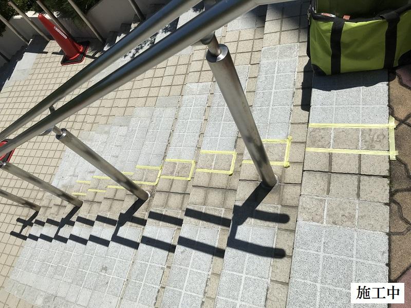神戸市 正面玄関階段ノンスリップ塗装修繕工事イメージ04