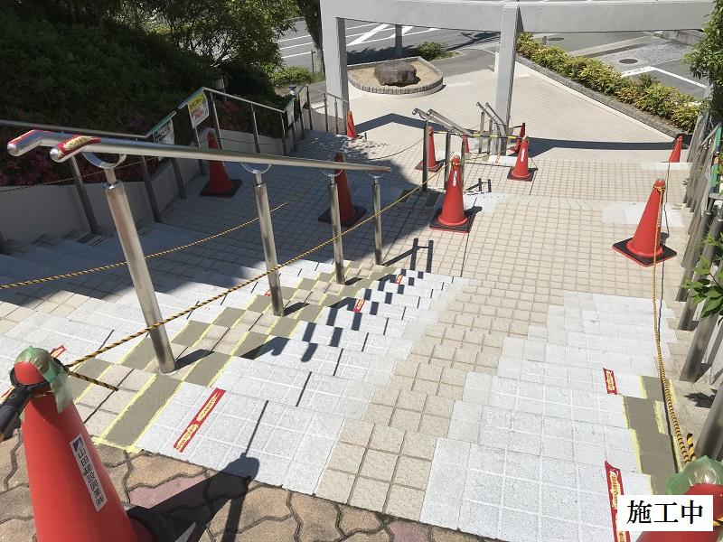 神戸市 正面玄関階段ノンスリップ塗装修繕工事イメージ06
