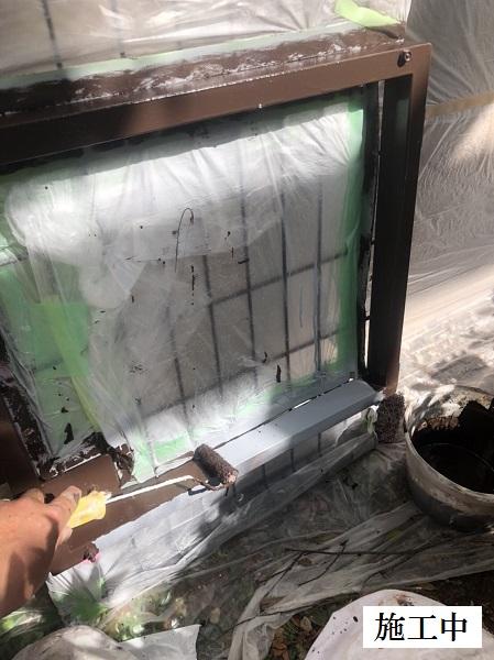 西宮市 マンション 駐輪場奥扉・フェンス塗装修繕工事イメージ08