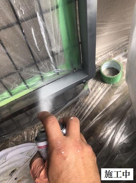 西宮市 マンション 駐輪場奥扉・フェンス塗装修繕工事イメージ05