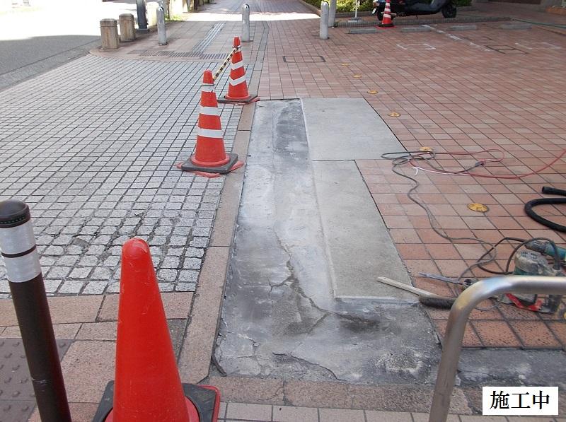 宝塚市 マンション 駐車場入口土間コンクリート補修工事イメージ05