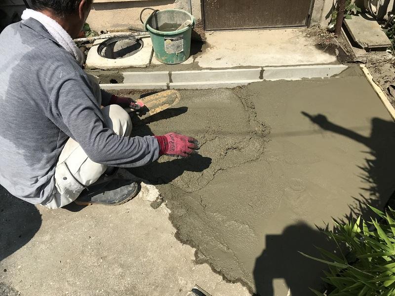 西宮市 排水溝設置・土間復旧工事イメージ09