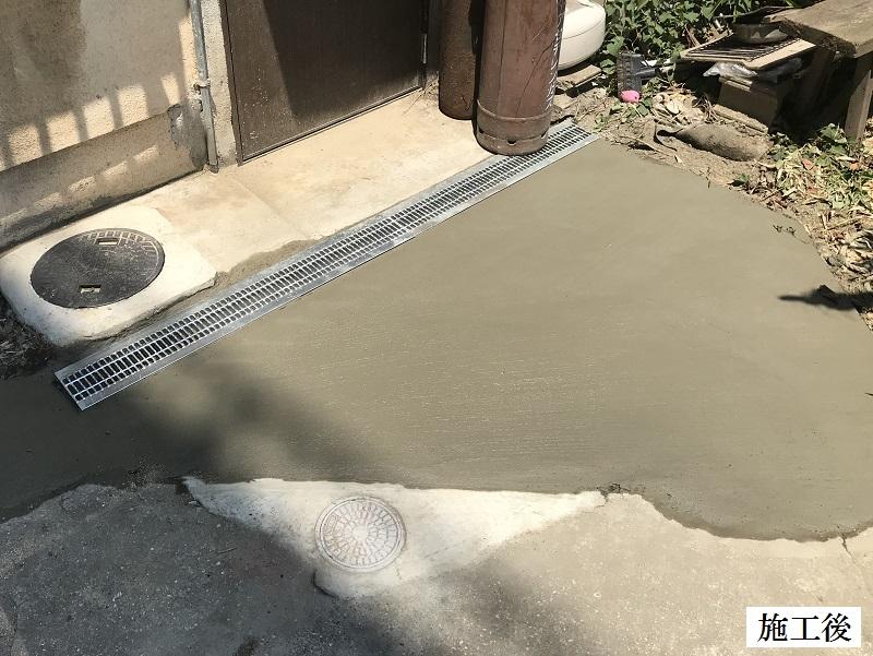 西宮市 排水溝設置・土間復旧工事イメージ01