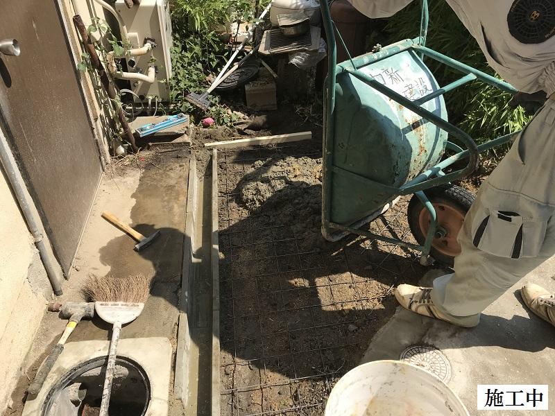 西宮市 排水溝設置・土間復旧工事イメージ08
