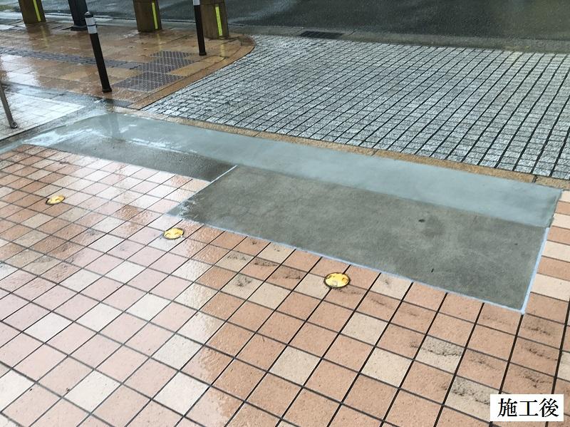 宝塚市 マンション 駐車場入口土間コンクリート補修工事イメージ01