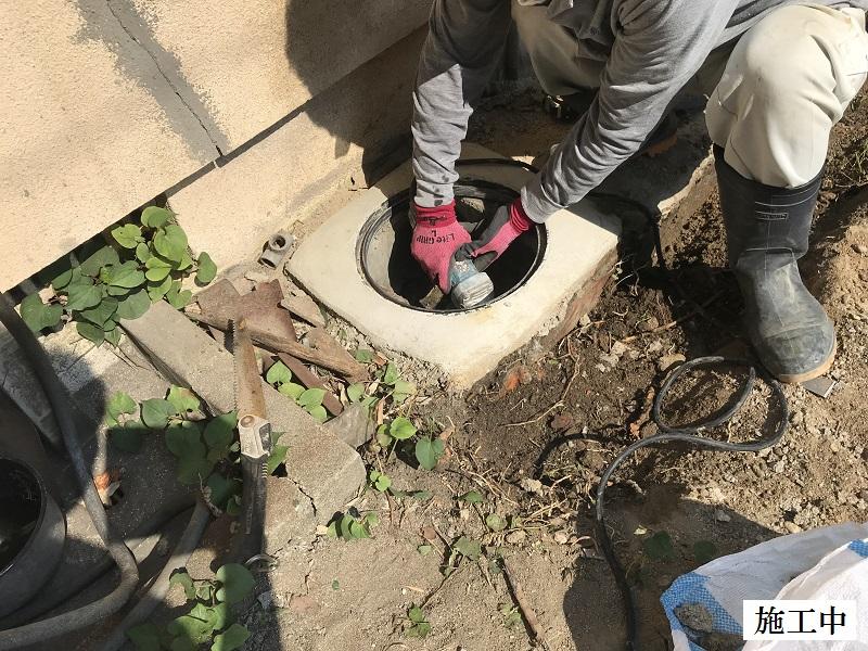 西宮市 排水溝設置・土間復旧工事イメージ04