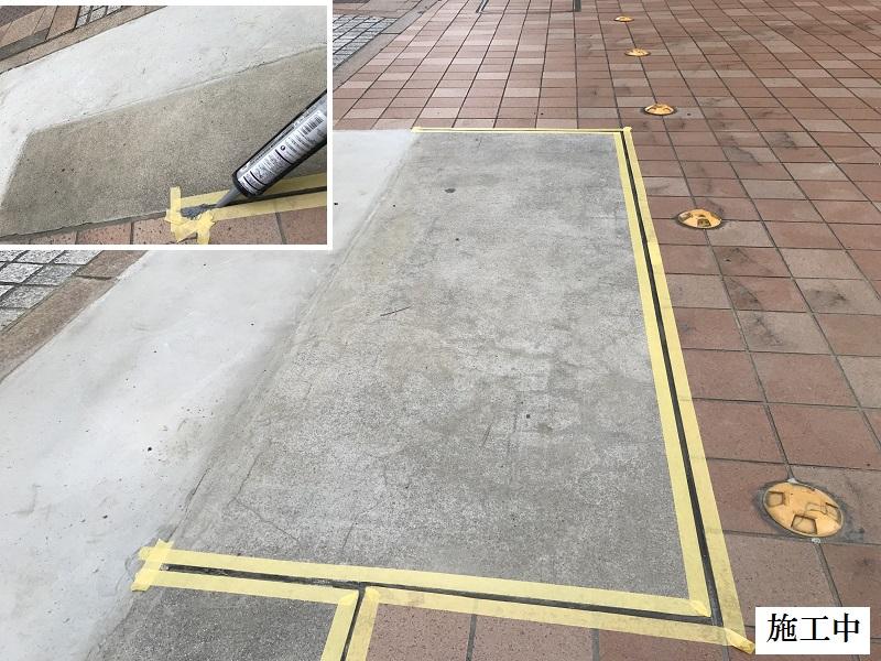 宝塚市 マンション 駐車場入口土間コンクリート補修工事イメージ09