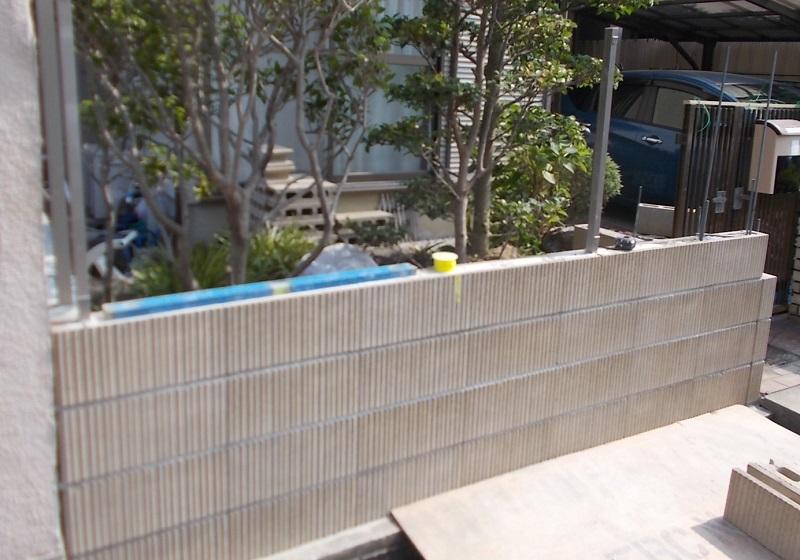 西宮市 ブロック塀のリフォーム工事イメージ07