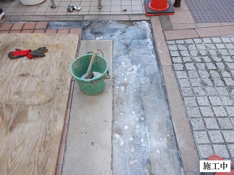 宝塚市 マンション 駐車場入口土間コンクリート補修工事イメージ06