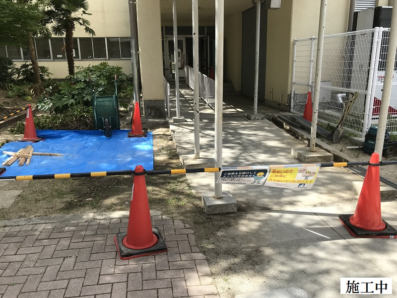 宝塚市 市立中学校 渡り廊下土間修繕イメージ03