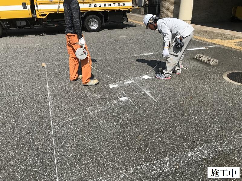 宝塚市 保育園 駐車場区画線ライン引き直し工事イメージ05
