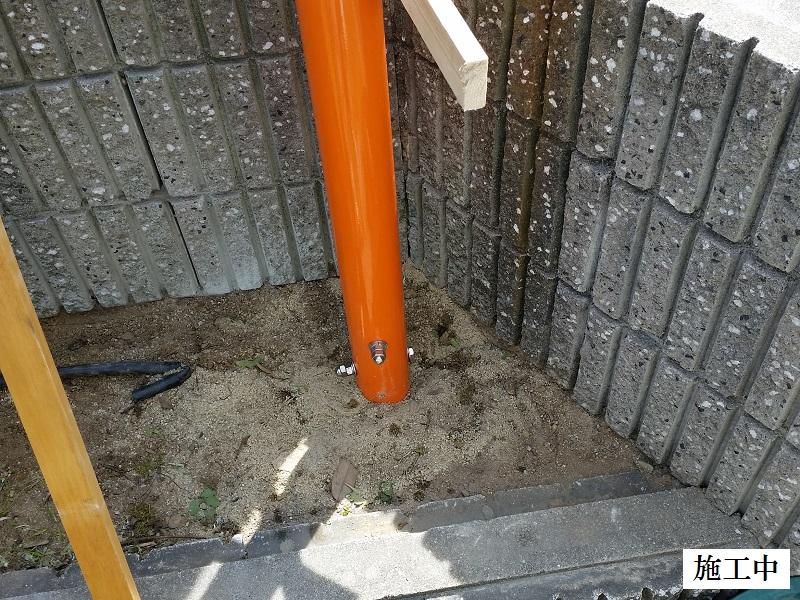 西宮市 マンション カーブミラー設置工事イメージ08