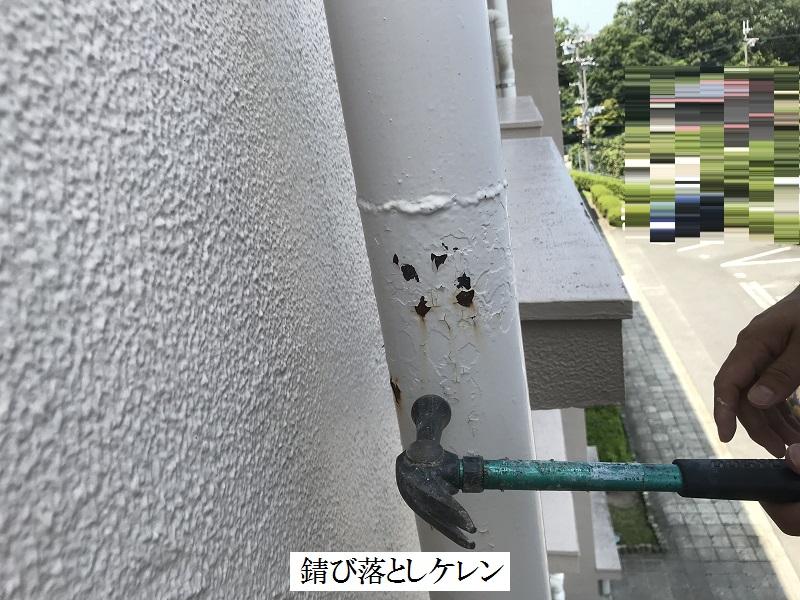 神戸市 集合住宅 雨水たて樋穴修繕工事イメージ02