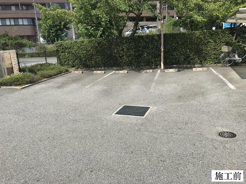宝塚市 保育園 駐車場区画線ライン引き直し工事イメージ04