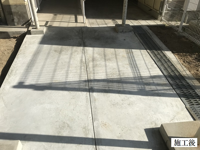 宝塚市 市立中学校 渡り廊下土間修繕イメージ01