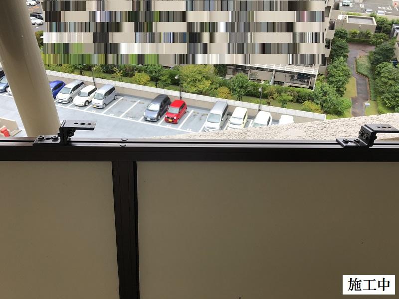 芦屋市 マンション ベランダ隔て板修繕工事イメージ08