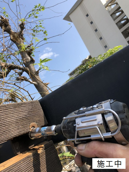 尼崎市 公園 藤棚屋根修繕工事イメージ04