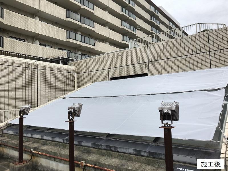 宝塚市 マンション 屋上日除けテント取替イメージ01
