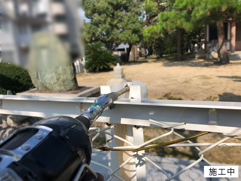 尼崎市 公園 ネットフェンス修繕工事イメージ05