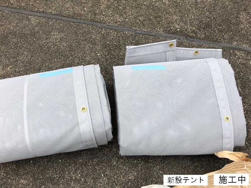 宝塚市 マンション 屋上日除けテント取替イメージ05