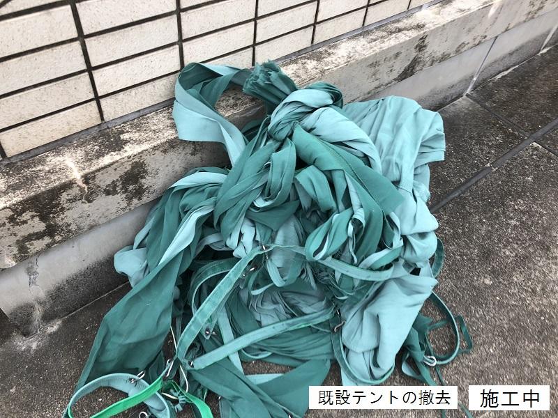 宝塚市 マンション 屋上日除けテント取替イメージ04