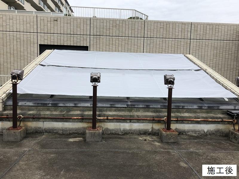 宝塚市 マンション 屋上日除けテント取替イメージ02