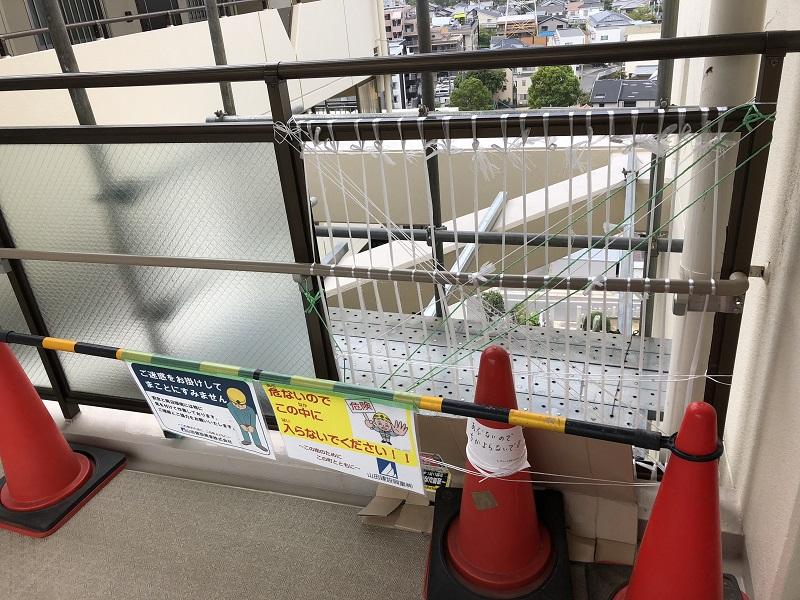 尼崎市 マンション 渡り廊下ガラス取替工事イメージ05