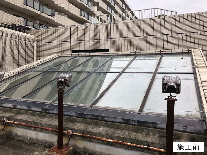 宝塚市 マンション 屋上日除けテント取替イメージ03