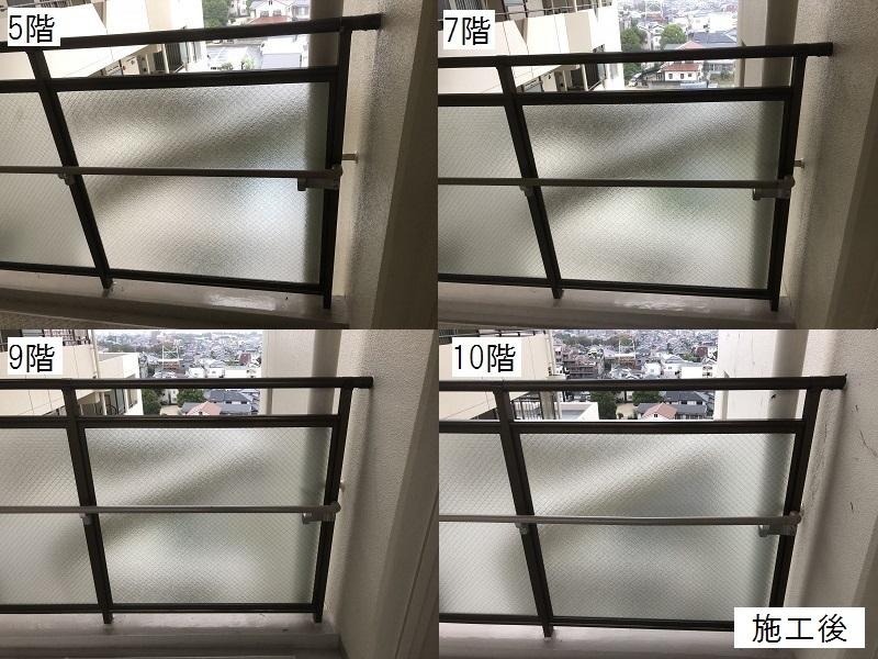 尼崎市 マンション 渡り廊下ガラス取替工事イメージ01