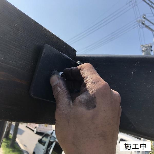 尼崎市 公園 藤棚屋根修繕工事イメージ09