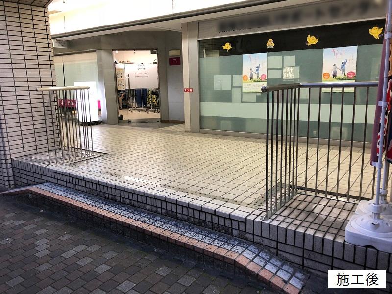 宝塚市 商業施設 スペース確保ステンレス手摺設置工事イメージ01