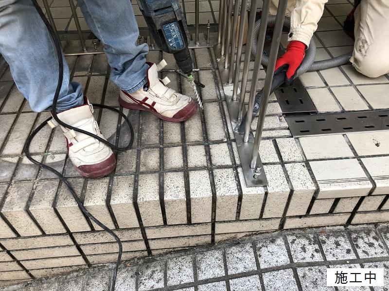 宝塚市 商業施設 スペース確保ステンレス手摺設置工事イメージ04
