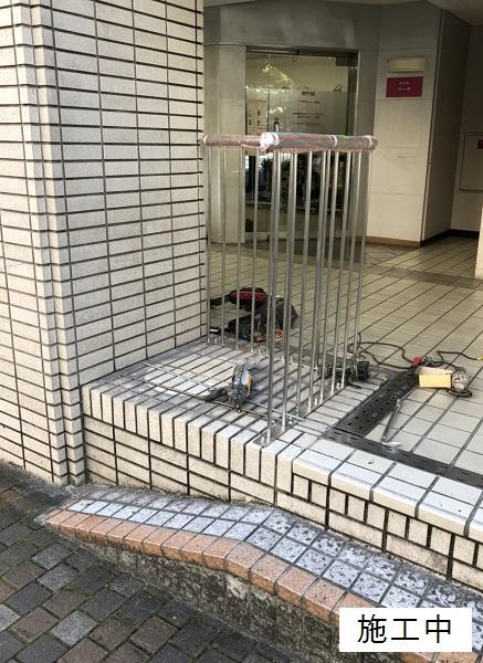 宝塚市 商業施設 スペース確保ステンレス手摺設置工事イメージ08