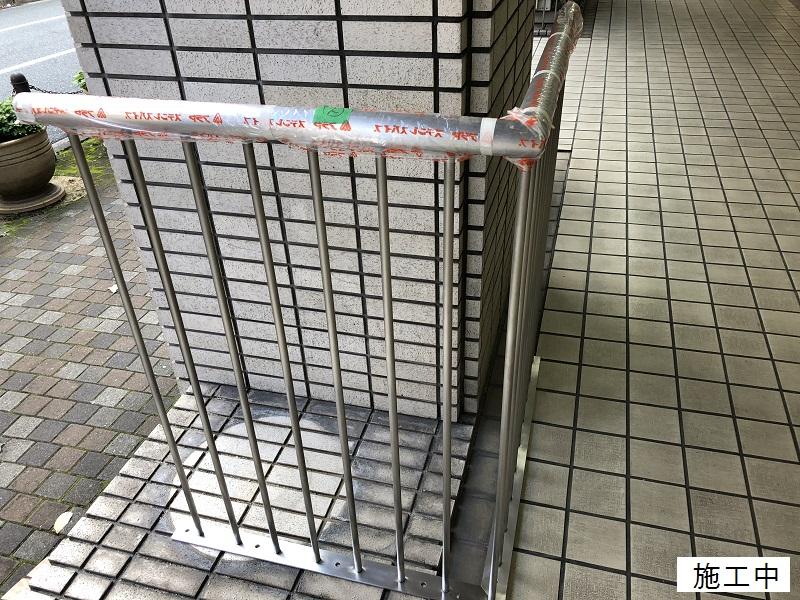 宝塚市 商業施設 スペース確保ステンレス手摺設置工事イメージ03