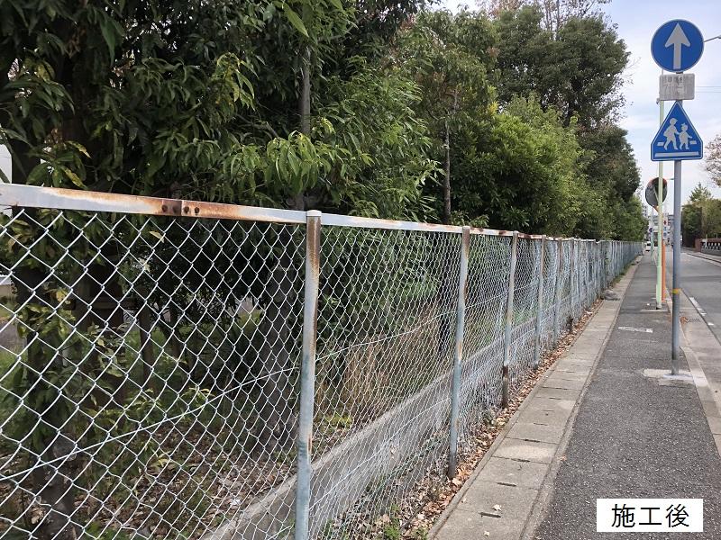 尼崎市 施設 有刺鉄線撤去工事イメージ08