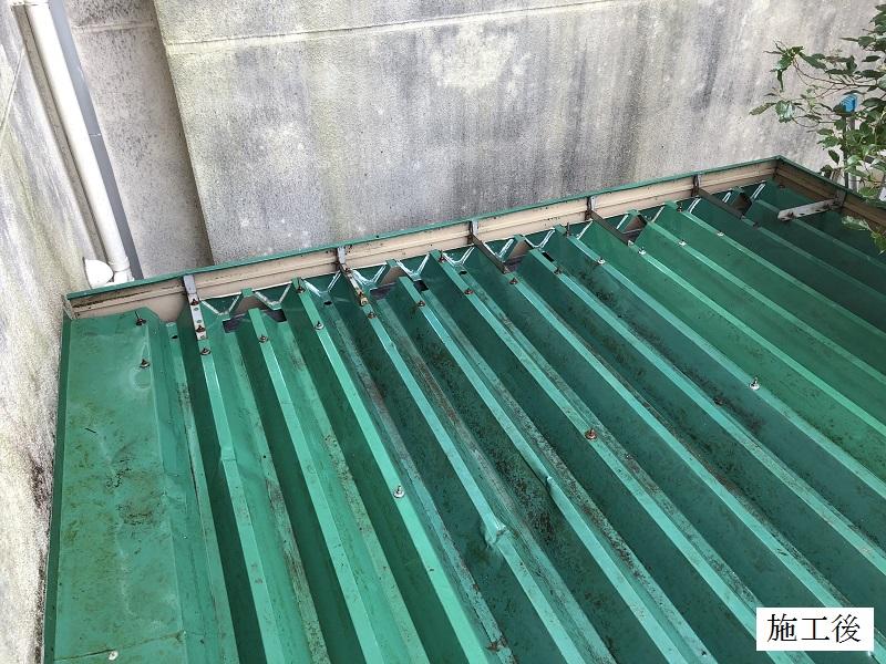 宝塚市 中学校 雨樋の詰まり防止 屋根修繕イメージ01