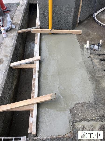 伊丹市 門柱撤去・擁壁修繕工事イメージ09