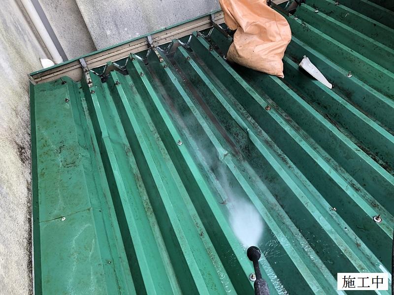 宝塚市 中学校 雨樋の詰まり防止 屋根修繕イメージ07