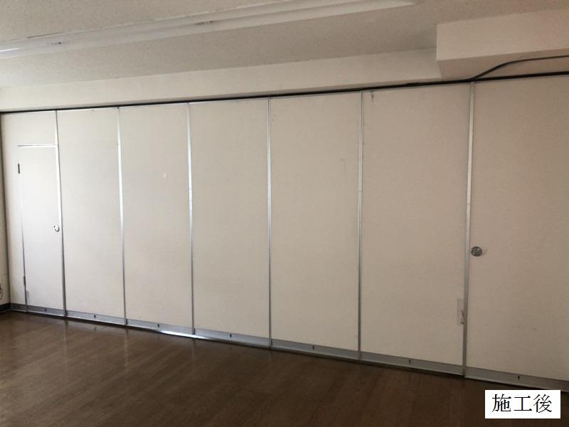宝塚市 保育園 スライディングドア(可動間仕切り)調整・修繕イメージ01