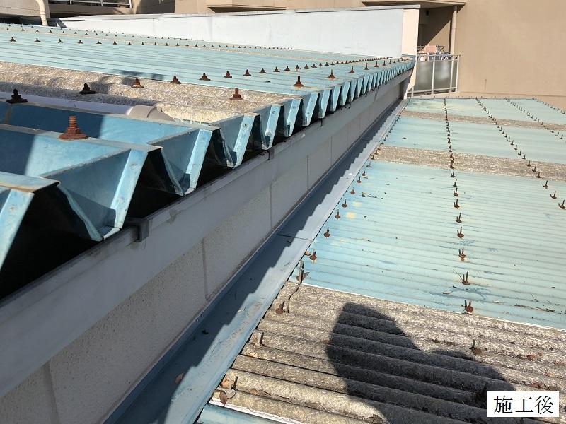 伊丹市 倉庫 雨樋清掃イメージ01