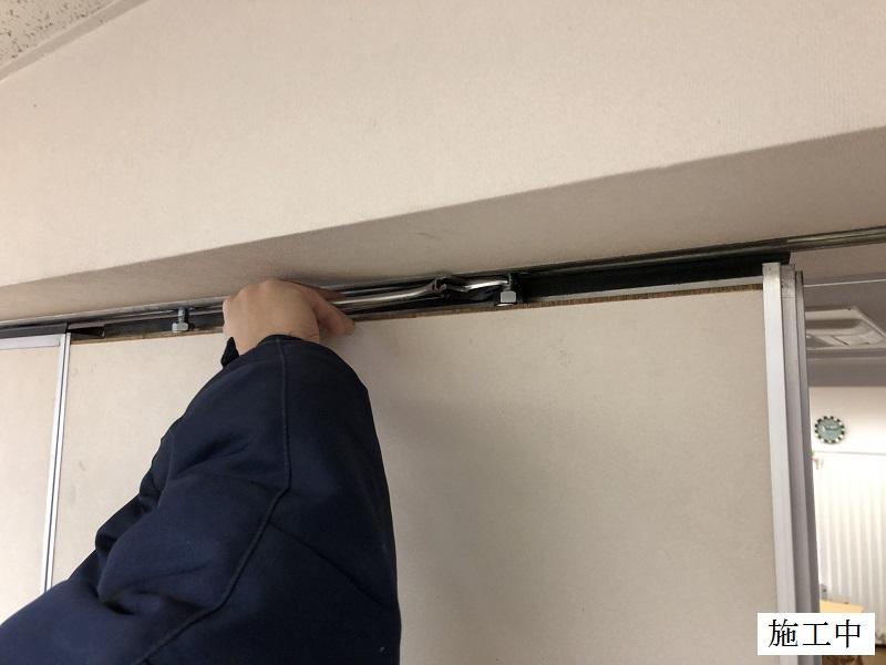 宝塚市 保育園 スライディングドア(可動間仕切り)調整・修繕イメージ09
