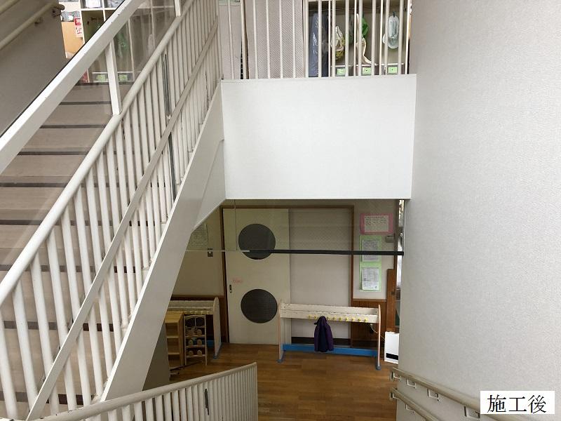 宝塚市 保育園 クロス修繕工事(階段・廊下・職員室)イメージ03