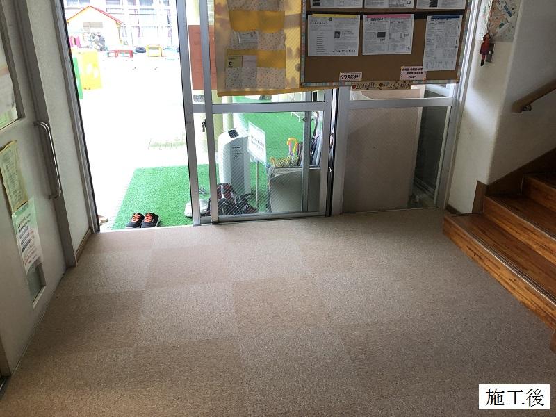 宝塚市 保育園 玄関・職員室 床修繕イメージ01