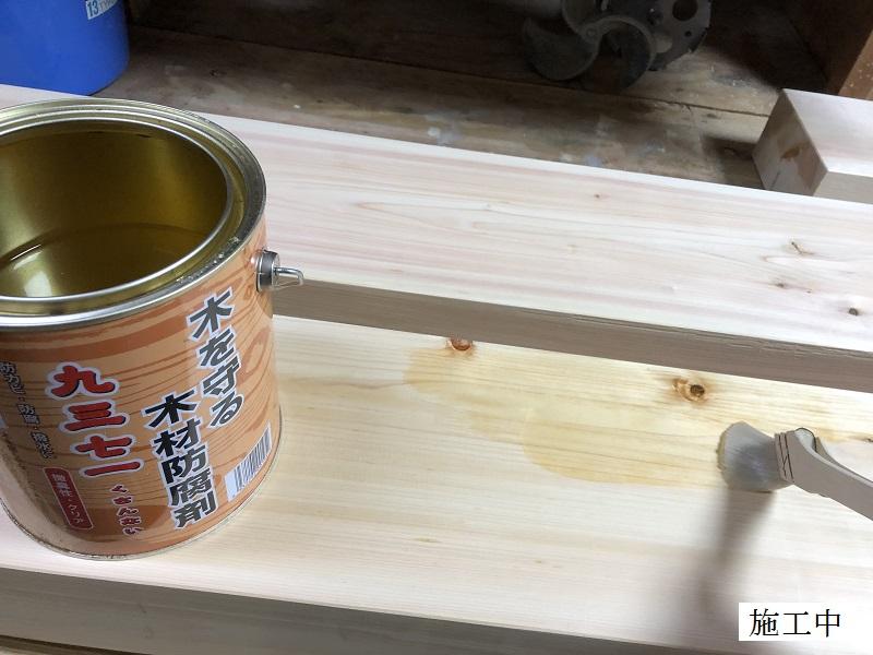 宝塚市 公共施設 木製ベンチ修繕工事イメージ08
