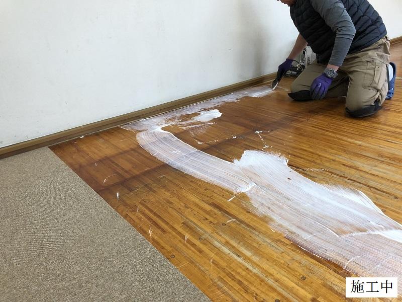 宝塚市 保育園 玄関・職員室 床修繕イメージ03