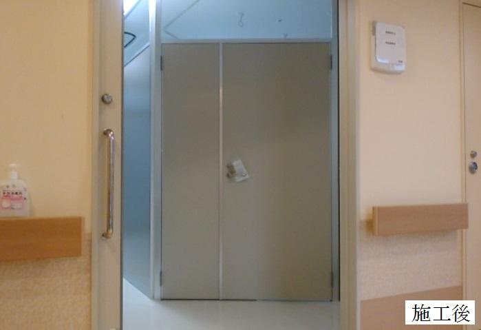 宝塚市 病院 病室扉設置工事イメージ01
