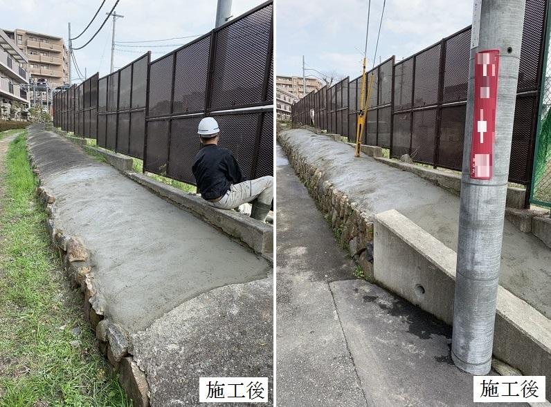 池田市 施設 敷地境界 石積み補修工事イメージ01