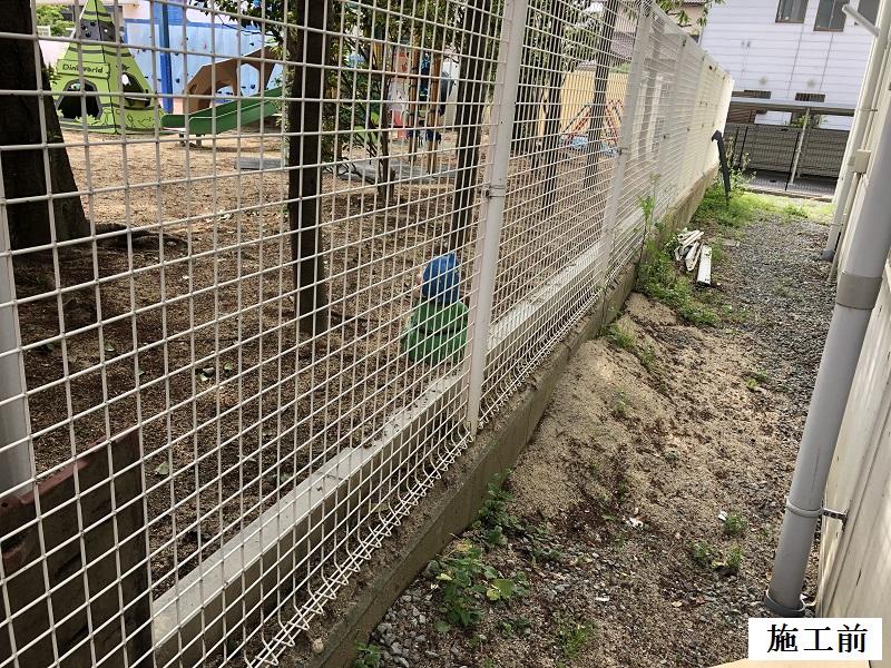 宝塚市 保育園 園庭土留め工事イメージ03